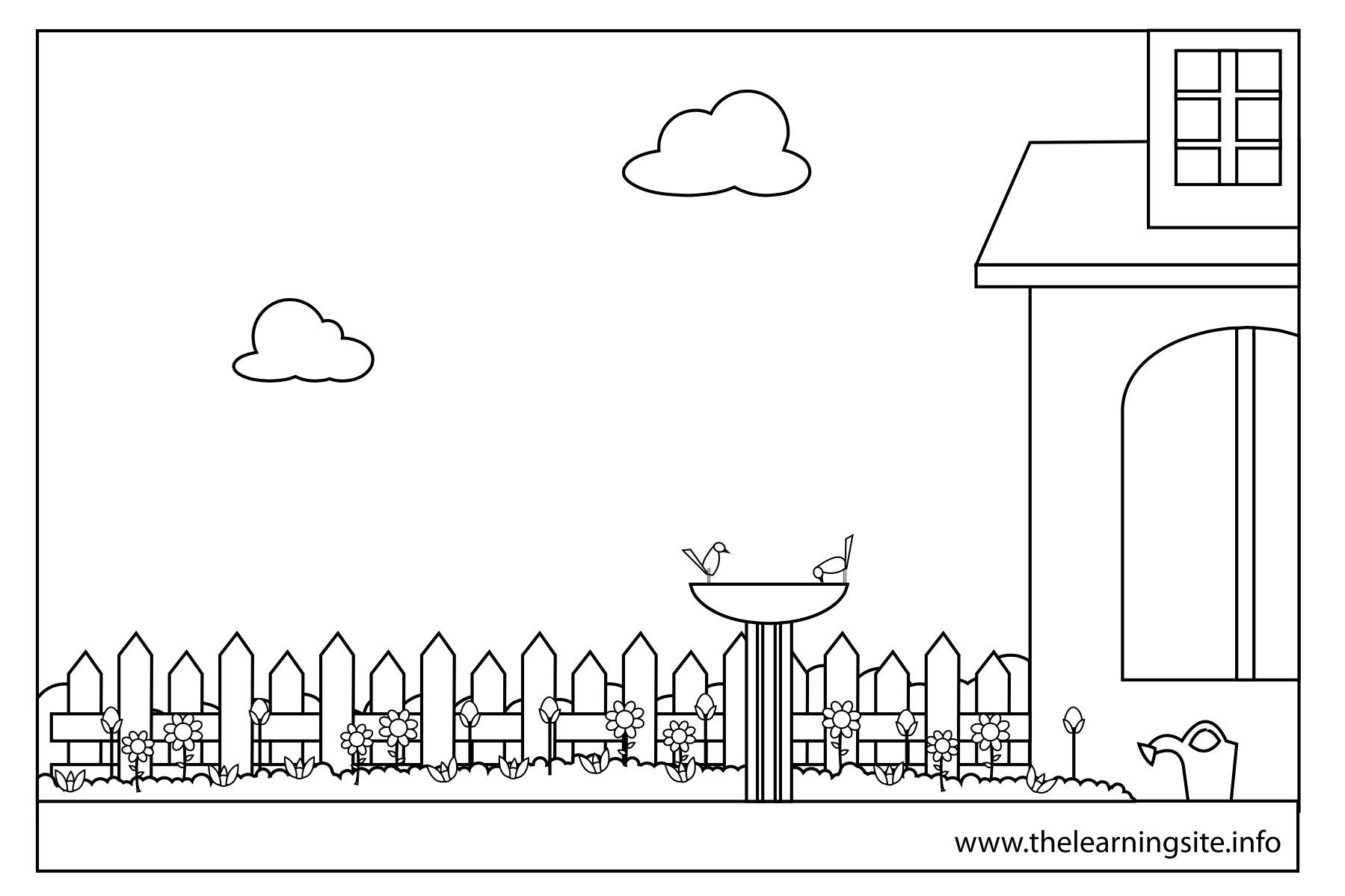 coloring pages house with garden hand drawn mushroom house for adult coloring page stock pages garden house coloring with