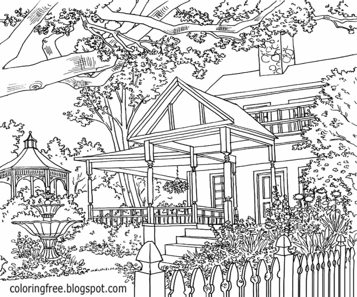 coloring pages house with garden house and garden colouring pages page 3 coloring home house garden with pages coloring