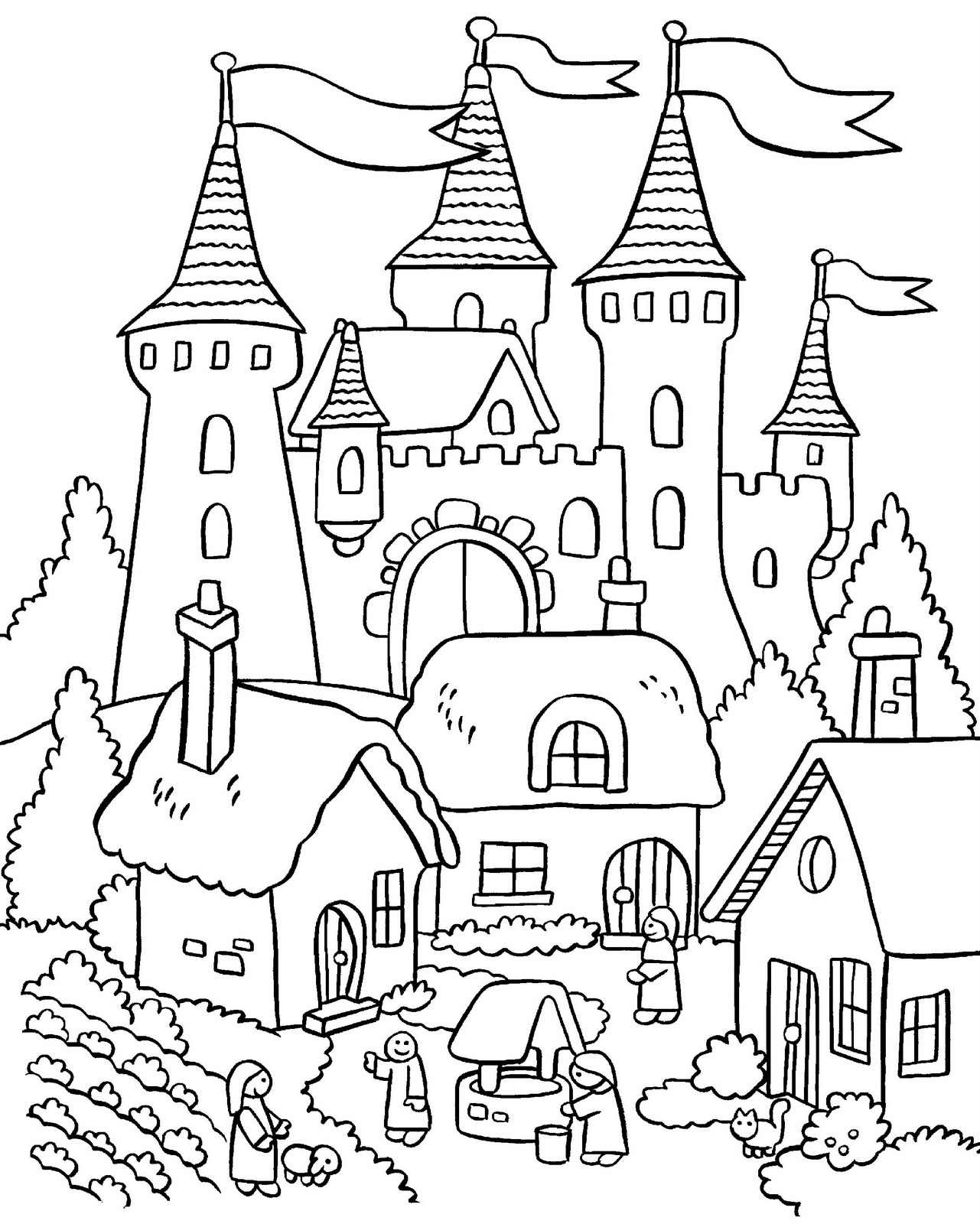 coloring pages house with garden my little house anna and the flower garden coloring pages pages garden coloring house with