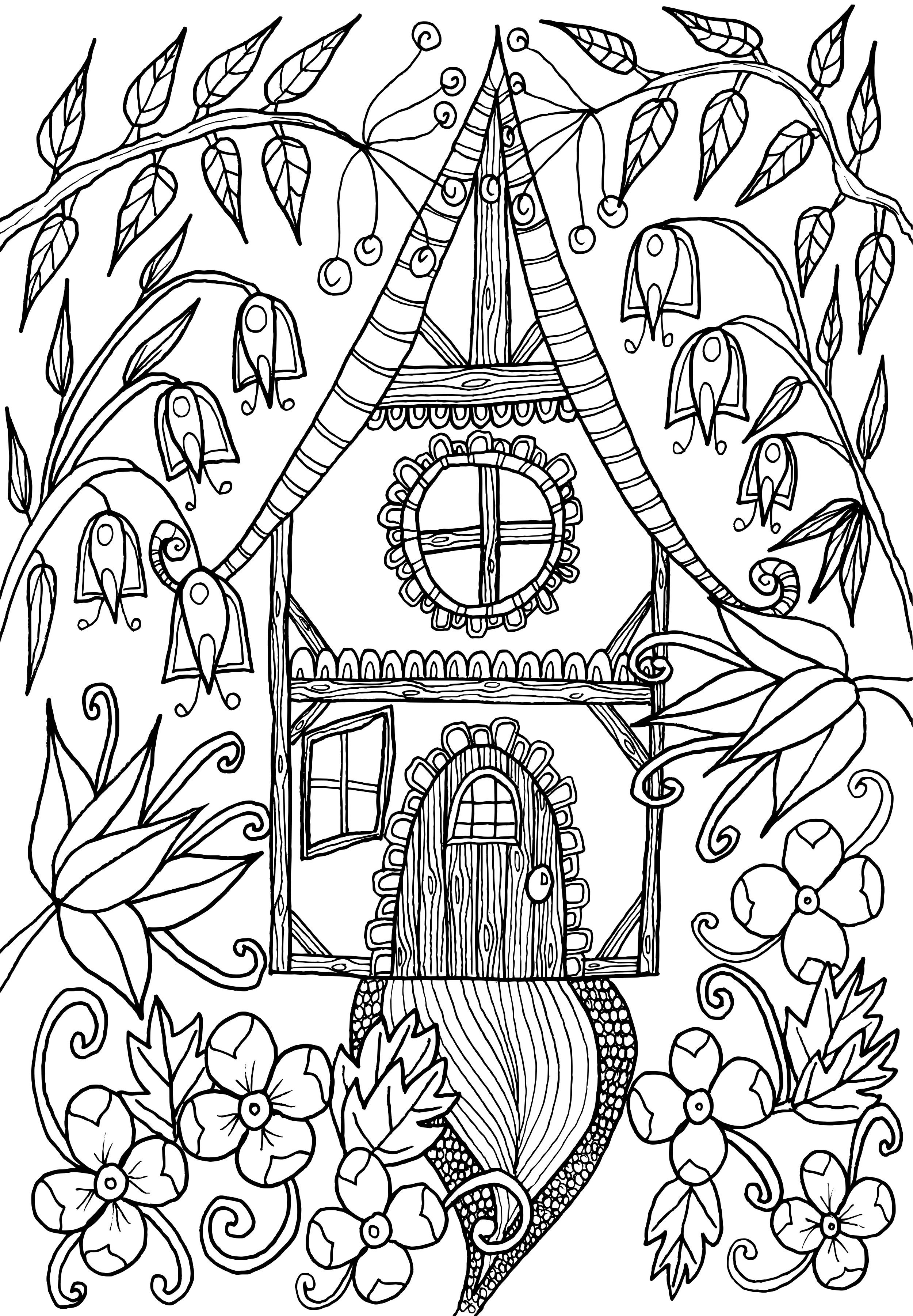 coloring pages house with garden the world of debbie macomber on behance debbie macomber coloring garden with pages house