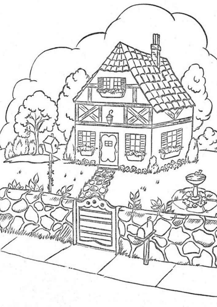 coloring pages house with garden treehouse coloring pages best coloring pages for kids house with coloring pages garden
