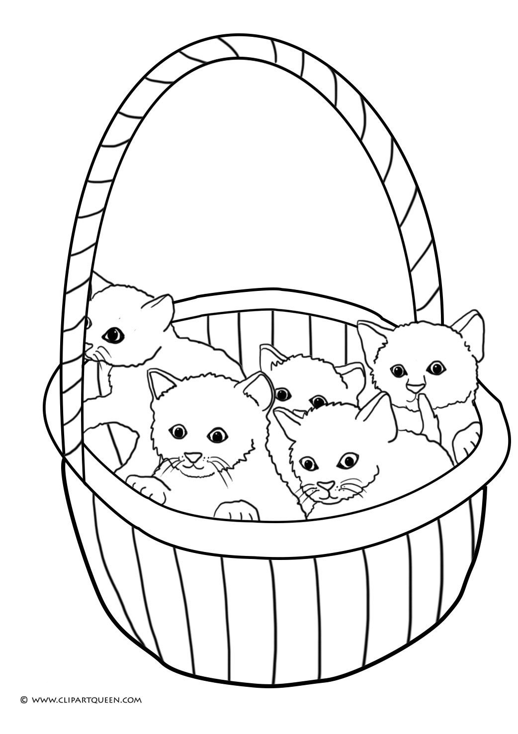 coloring pages kitten cute cat animal coloring pages for kids to print color kitten coloring pages