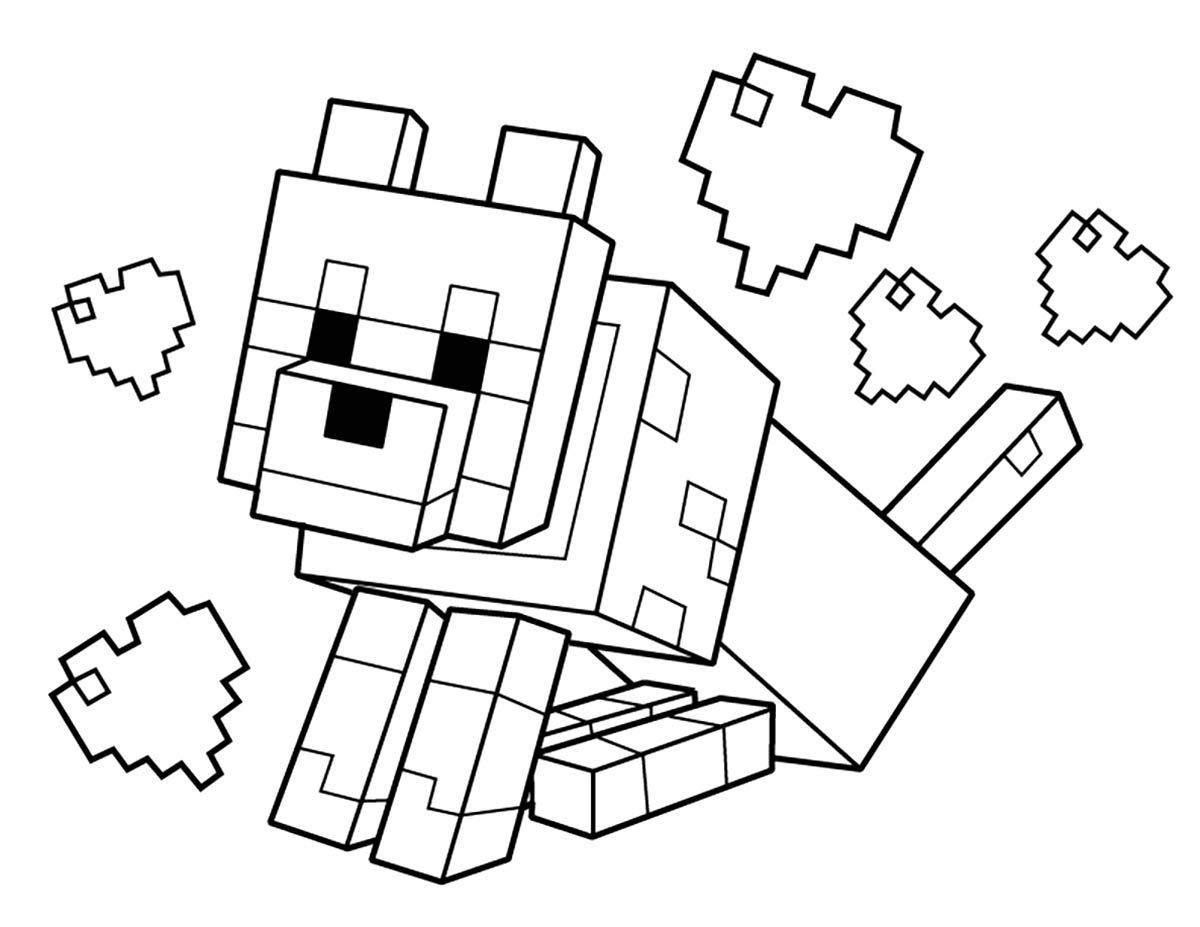 coloring pages minecraft minecraft coloring pages animals coloring home coloring minecraft pages
