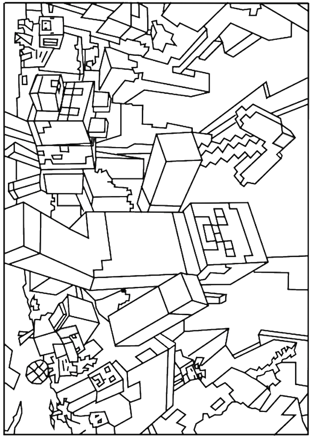 coloring pages minecraft minecraft coloring pages print them for free 100 coloring pages minecraft