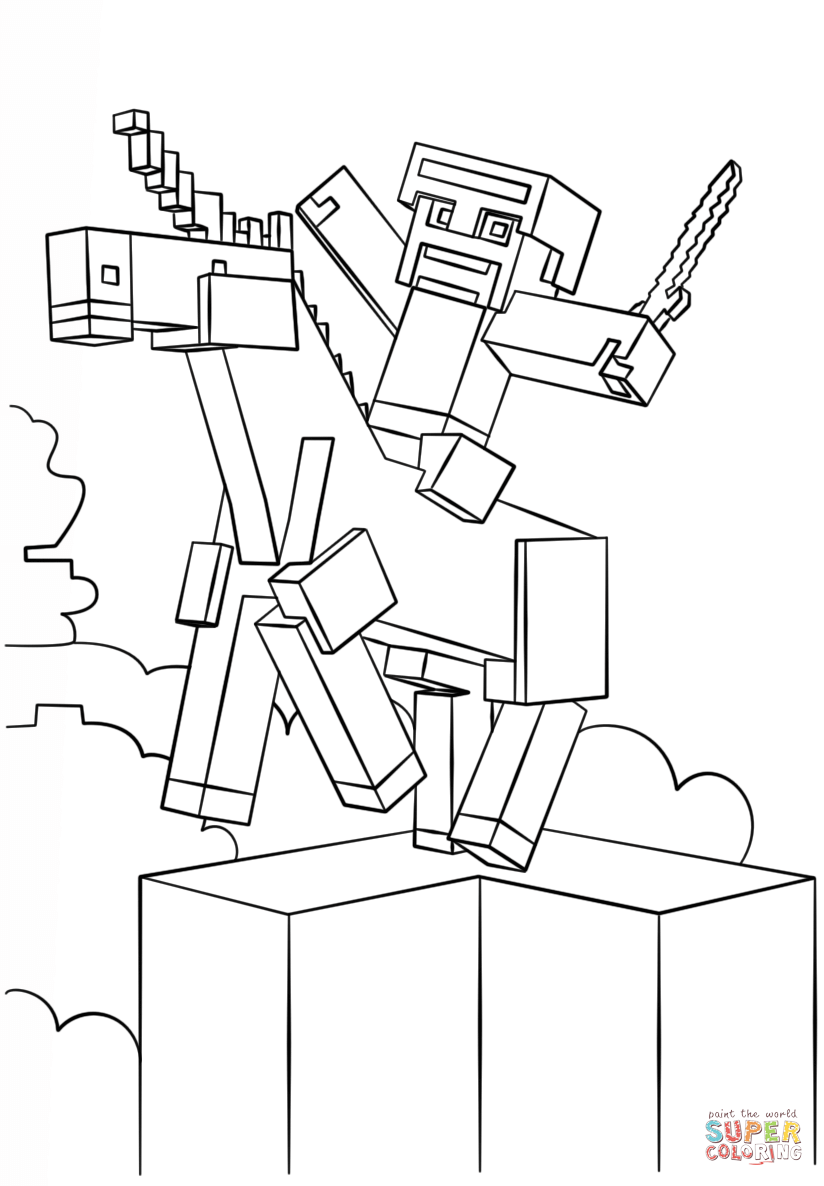 coloring pages minecraft minecraft mobs a minecraft coloring page for kids coloring pages minecraft