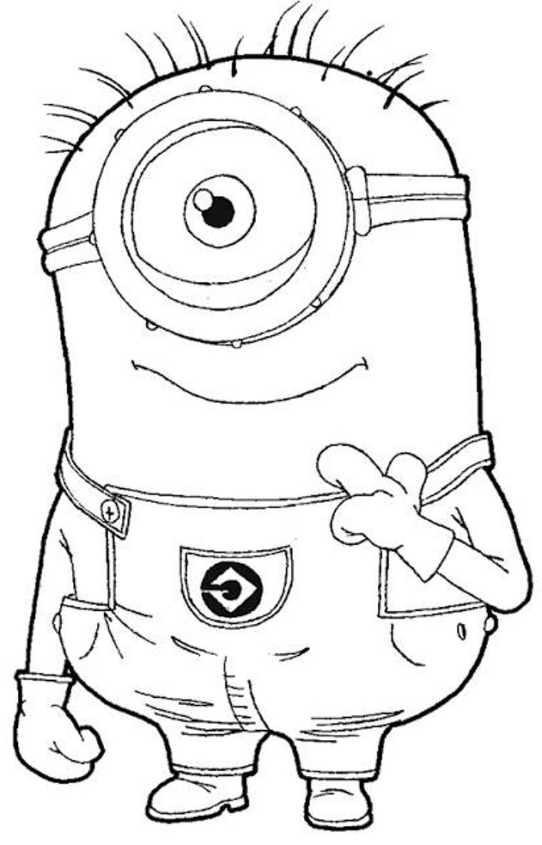 coloring pages minions despicable me one eyed minion despicable me coloring page for kids despicable me coloring minions pages