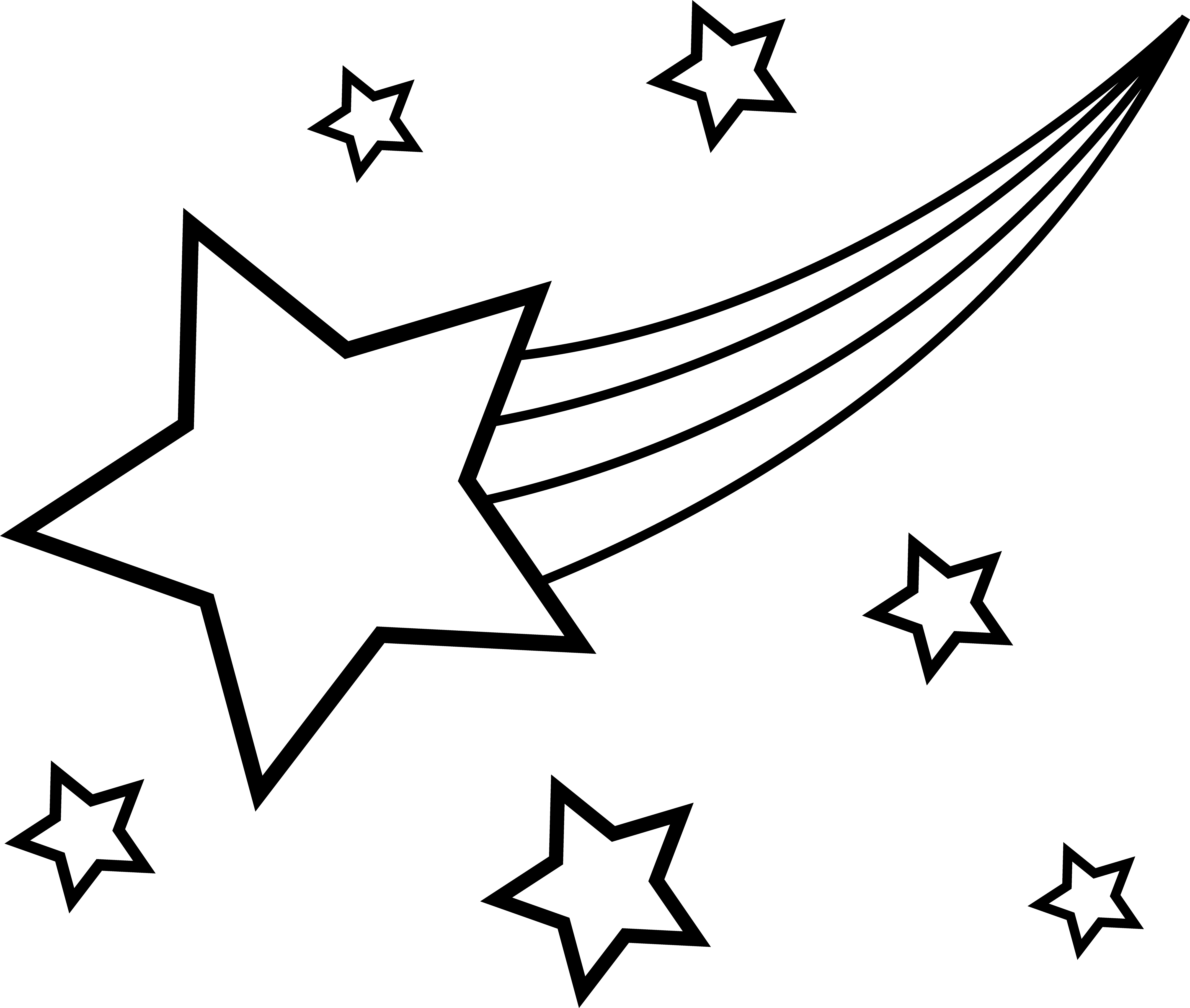 coloring pages of a star shooting star outline clipartioncom a of coloring pages star