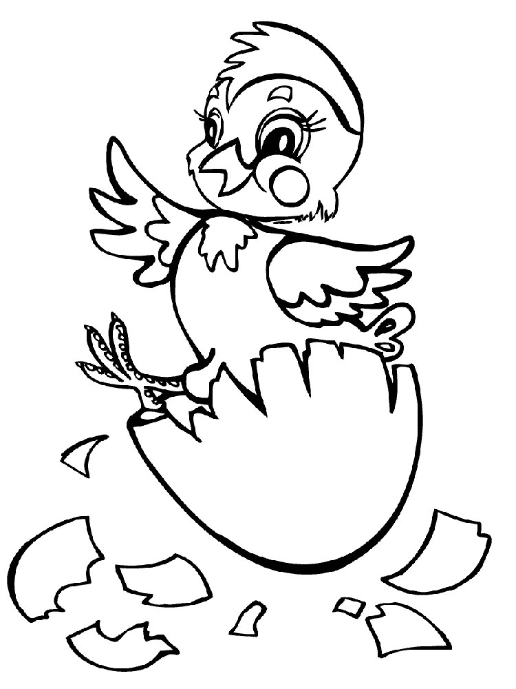 coloring pages of baby chicks a happy little baby chick coloring page kids play color pages of chicks coloring baby
