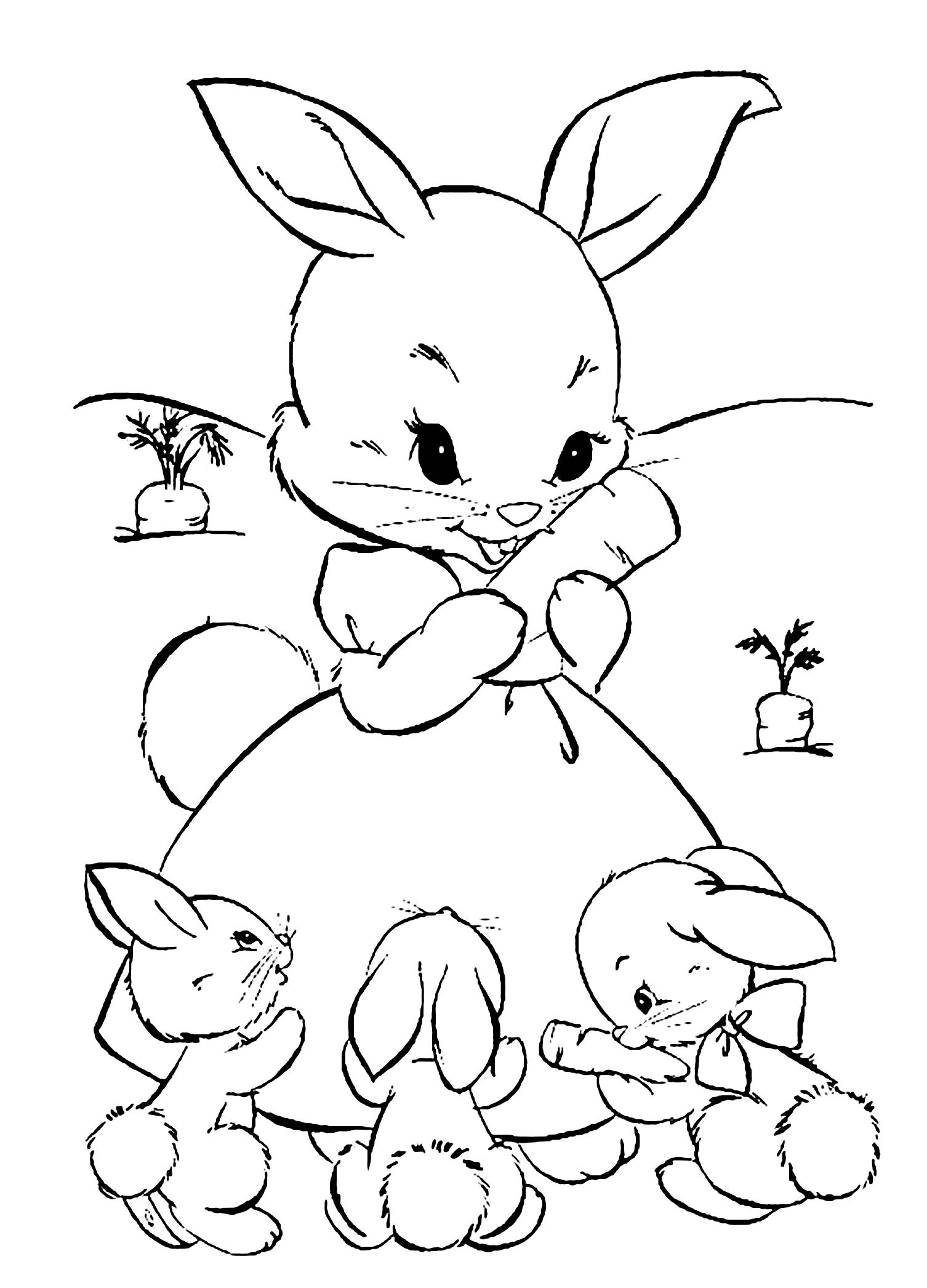 coloring pages of bunny rabbits rabbit free to color for children rabbit kids coloring pages rabbits coloring pages of bunny