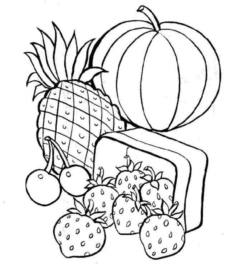 coloring pages of food easy and simple food coloring pages for kids bubakidscom pages coloring food of