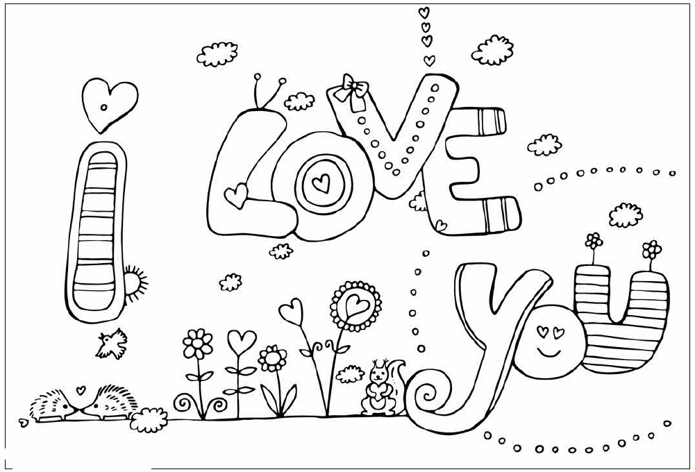 coloring pages of i love you 35 free printable heart coloring pages coloring pages love of you i