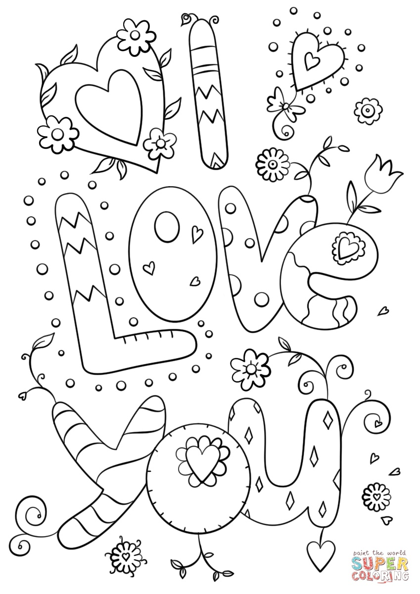 coloring pages of i love you i love you coloring pages you i of pages coloring love