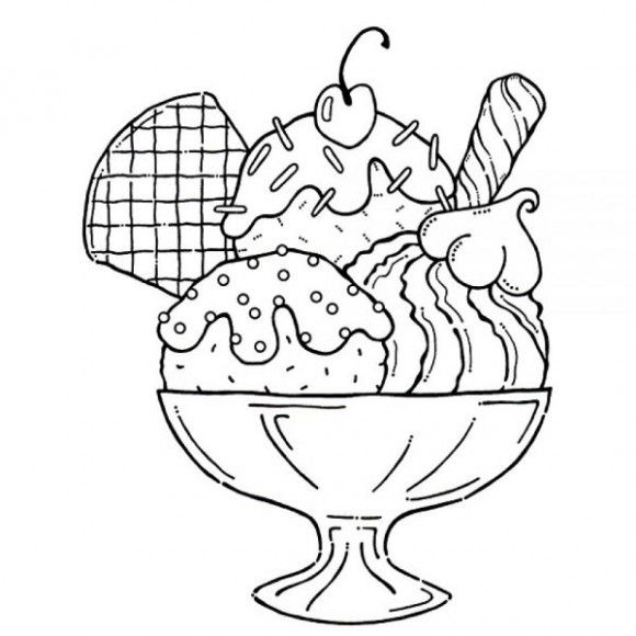 coloring pages of ice cream sundaes ice cream sundae coloring page coloring home coloring of cream sundaes ice pages