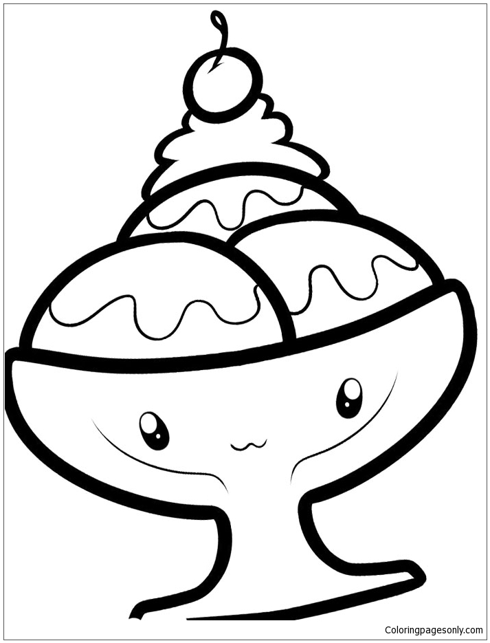 coloring pages of ice cream sundaes ice cream sundae coloring page coloring home ice of sundaes coloring pages cream