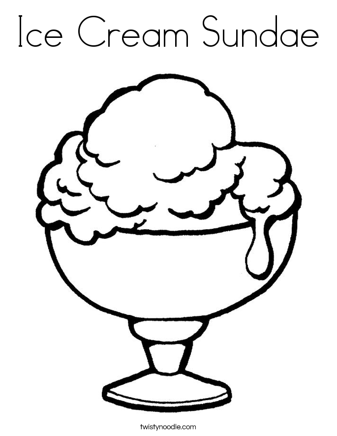 coloring pages of ice cream sundaes ice cream sundae coloring page coloring home of sundaes ice pages coloring cream