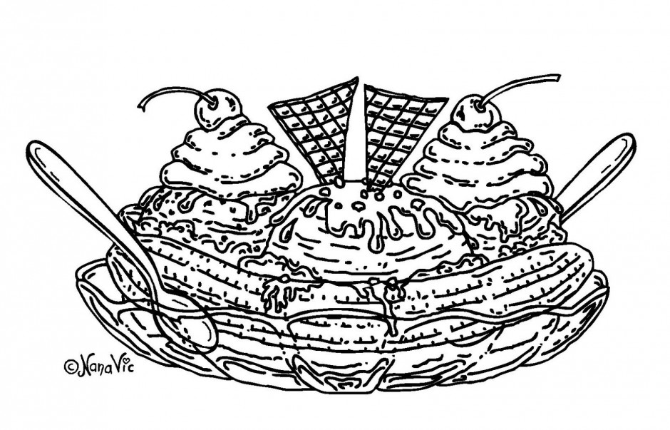 coloring pages of ice cream sundaes ice cream sundae coloring pages free coloring pages cream sundaes ice coloring pages of