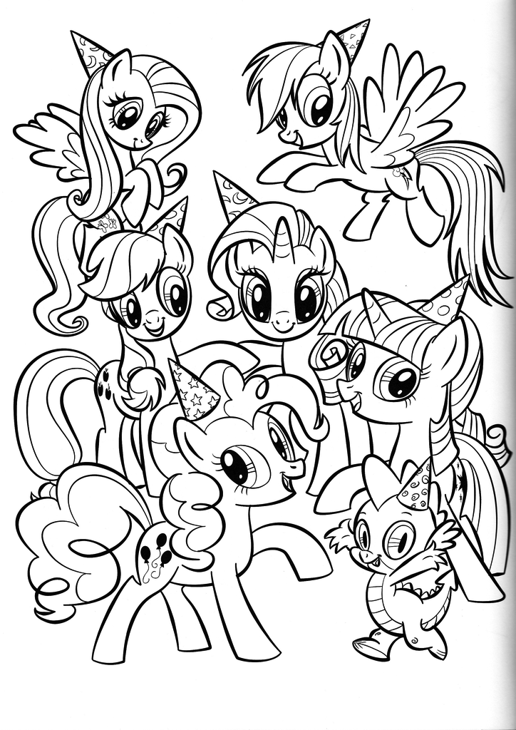 coloring pages of my little pony friendship is magic my little pony coloring pages friendship is magic team of pages friendship coloring pony my magic is little