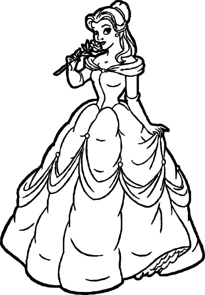 coloring pages of princess belle disney princess belle coloring pages to kids coloring princess of belle pages