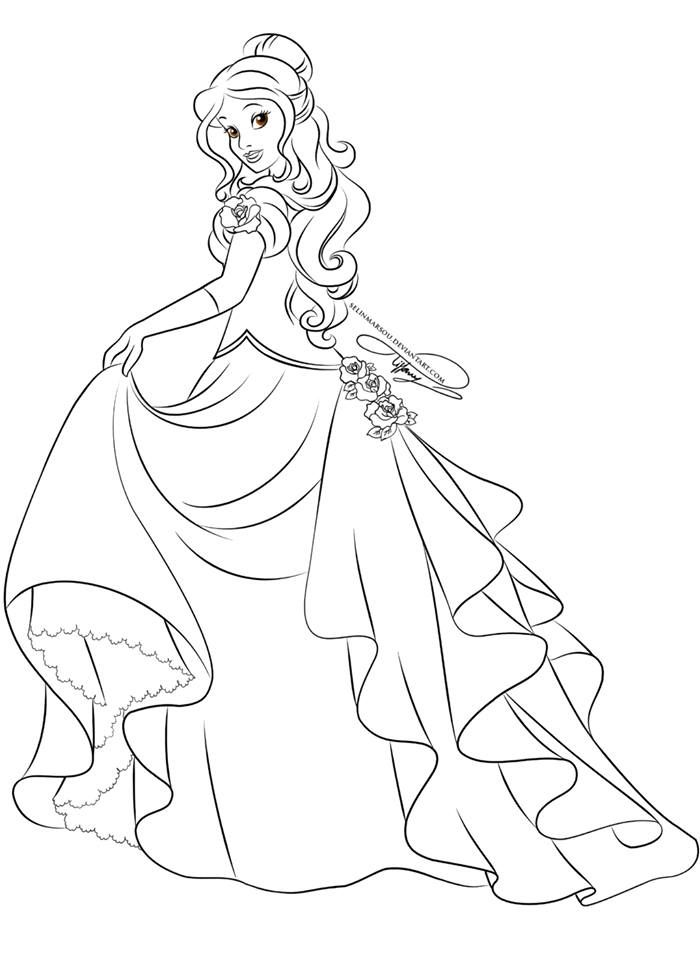 coloring pages of princess belle free printable belle coloring pages for kids coloring of princess pages belle