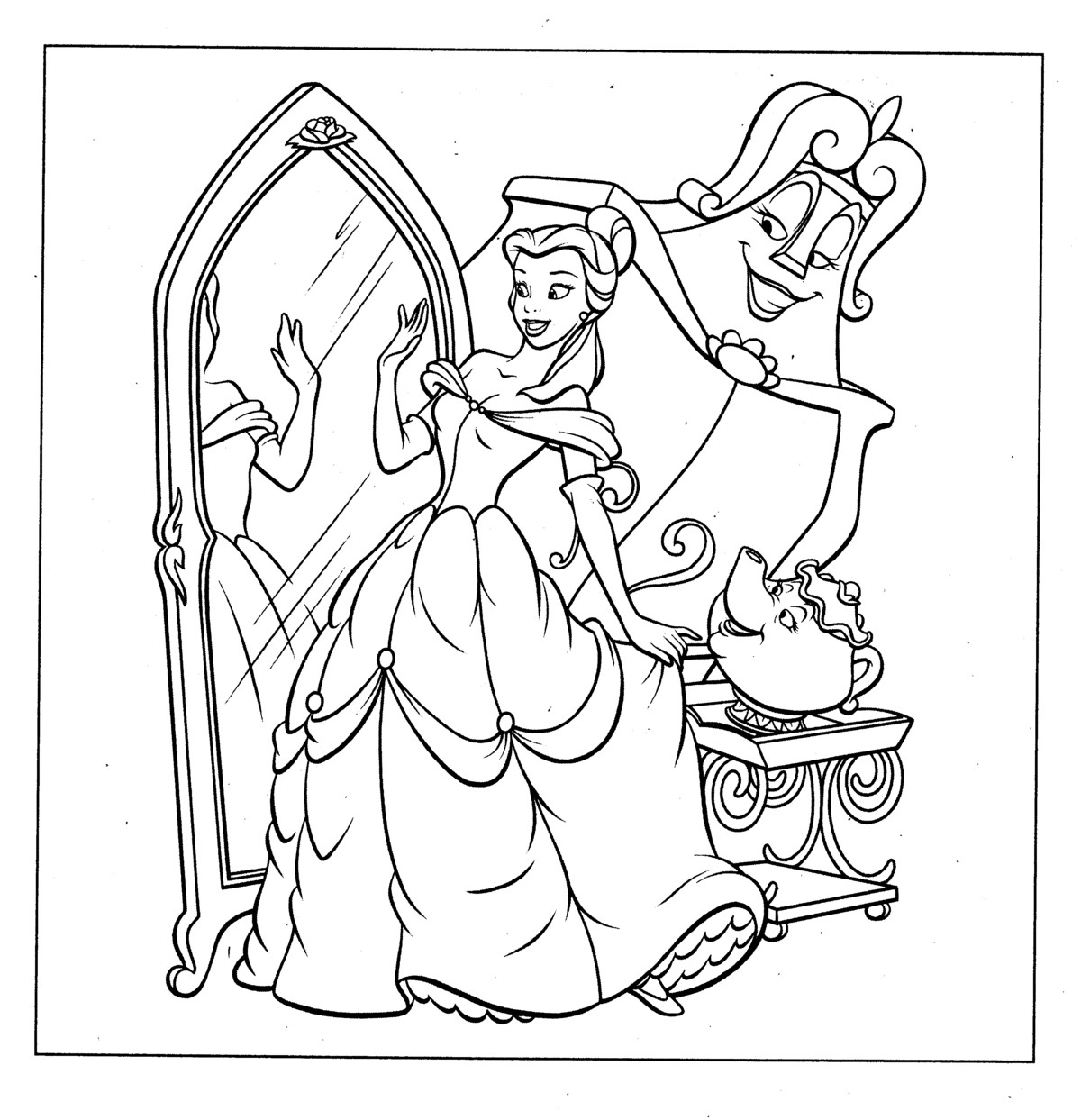 coloring pages of princess belle get this princess belle girls coloring pages to print princess of coloring belle pages