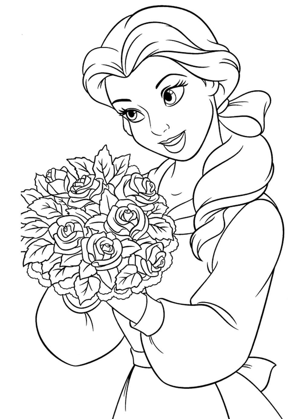 coloring pages of princess belle princess belle coloring pages coloring home princess pages belle coloring of