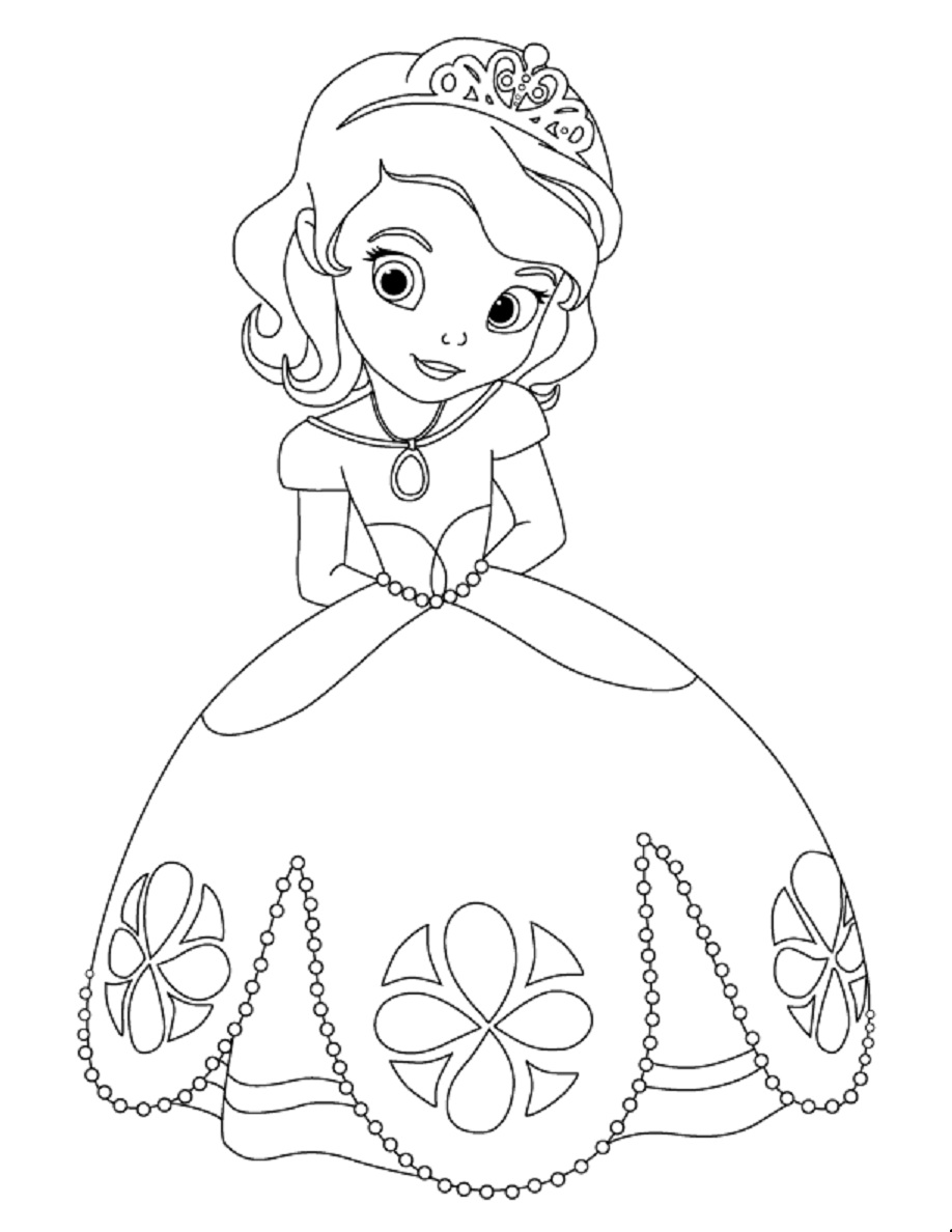 coloring pages of princess sofia princess sofia drawing at paintingvalleycom explore princess pages sofia of coloring