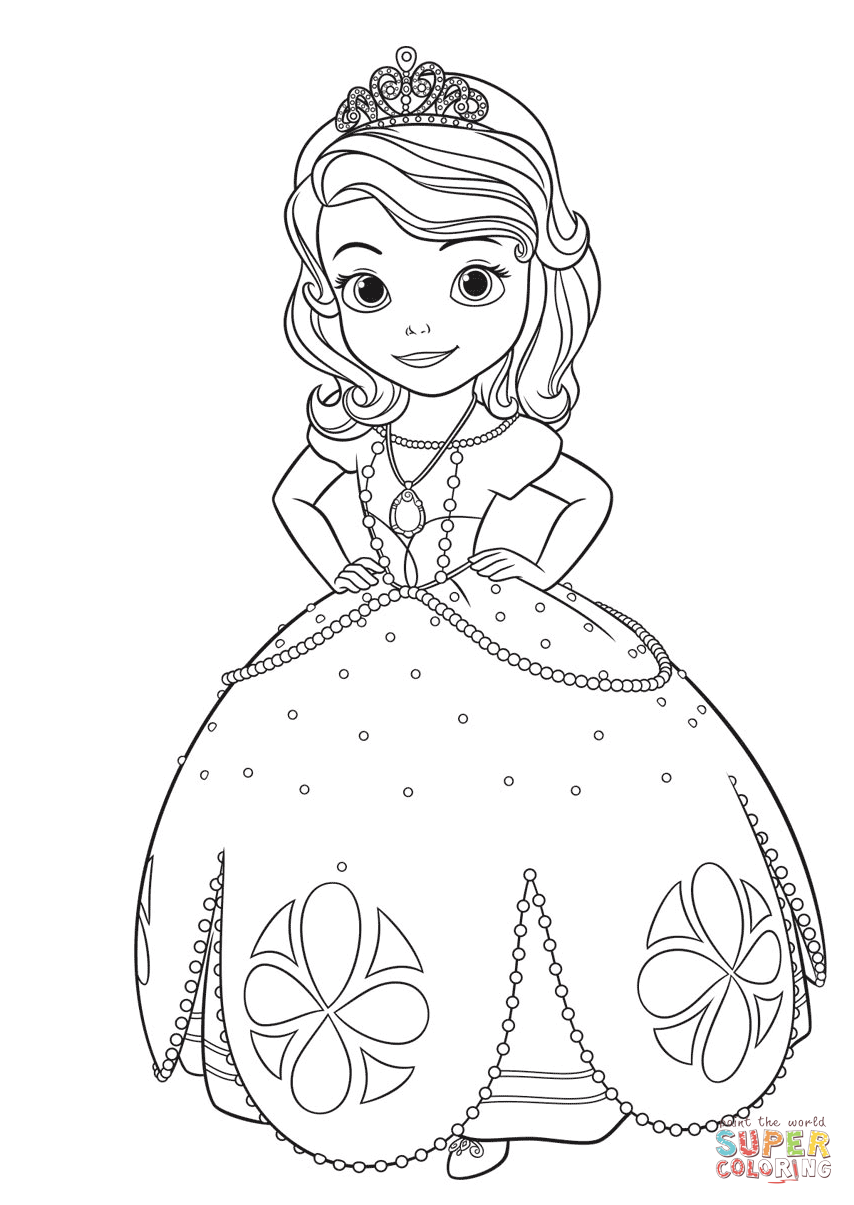 coloring pages of princess sofia sofia first coloring pages coloring pages printablecom of sofia princess coloring pages