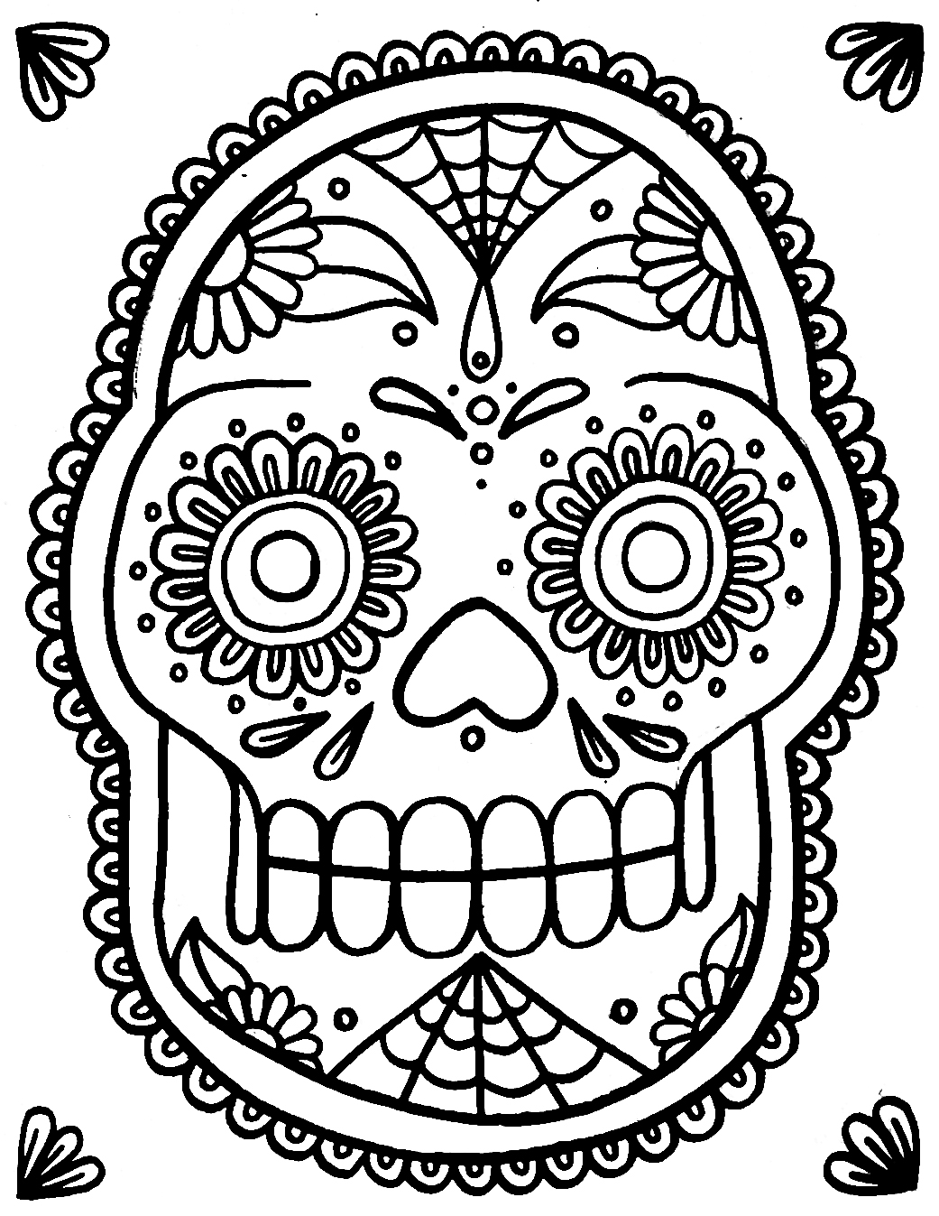coloring pages skull printable skull coloring pages coloringmecom pages skull coloring