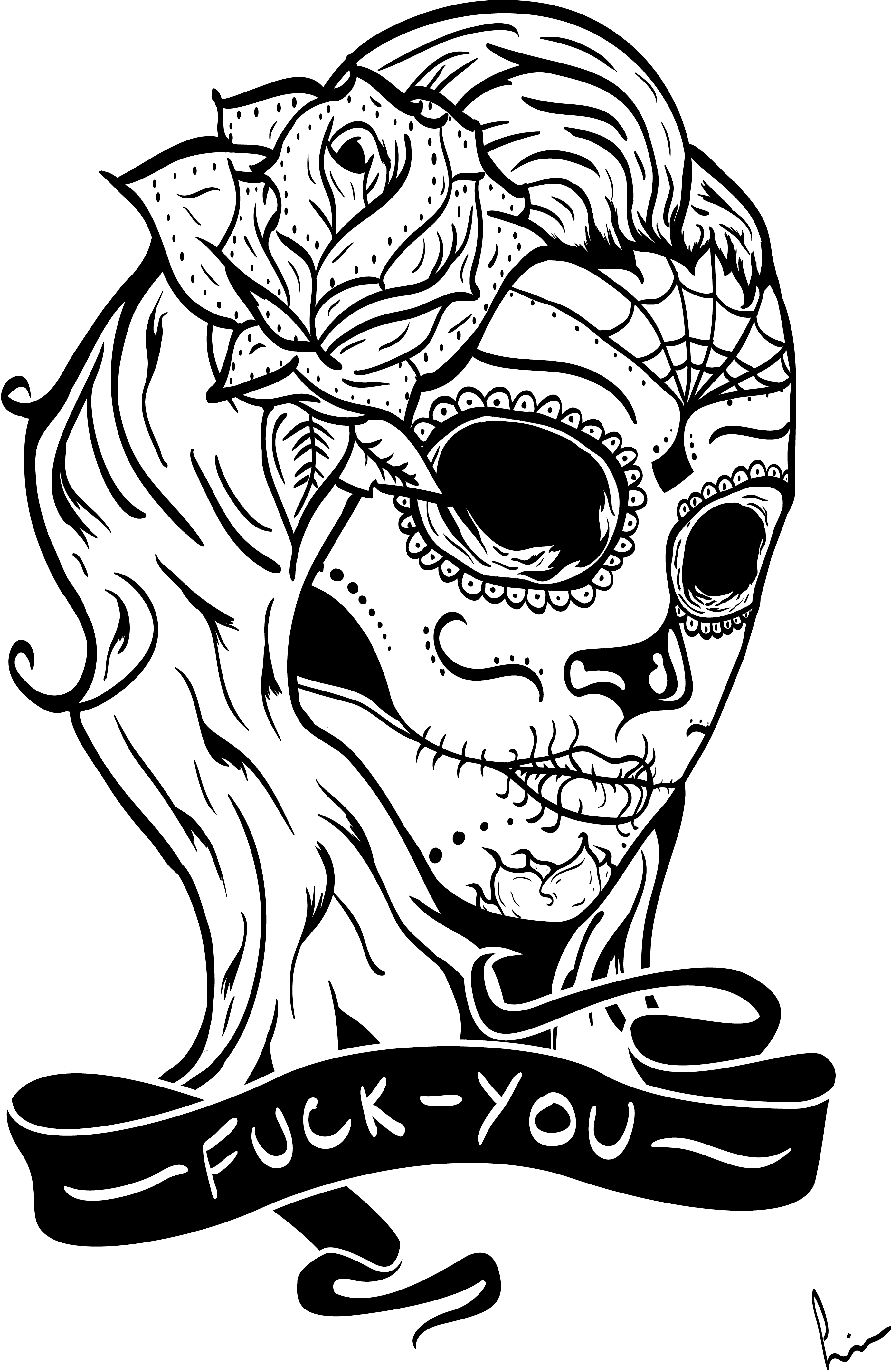 coloring pages skull sugar skull with crown coloring page free printable pages coloring skull