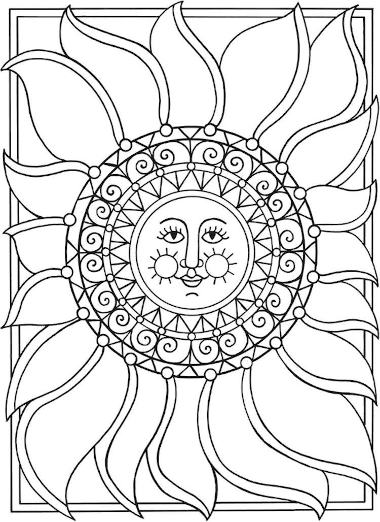 coloring pages sun and moon celestial sun and moon drawing at paintingvalleycom sun and pages coloring moon