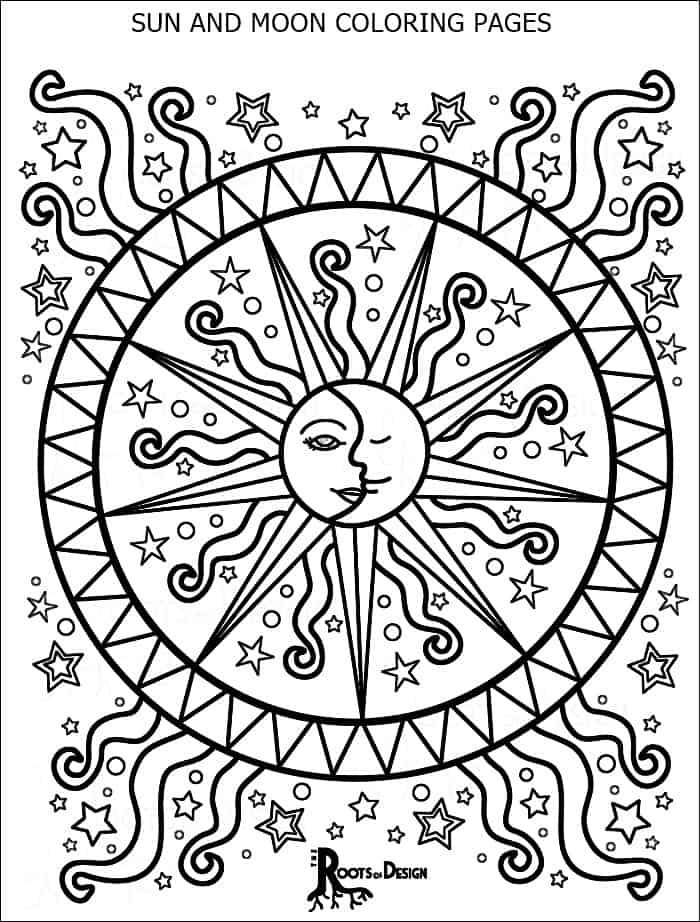 coloring pages sun and moon collection of sun and moon coloring pages coloring moon and pages sun