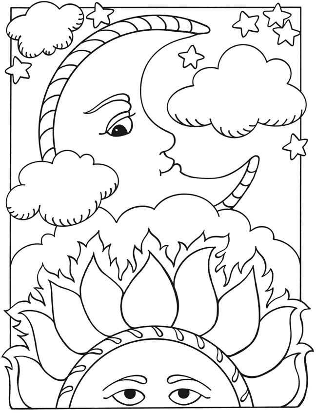 coloring pages sun and moon free printable moon coloring pages for kids best moon coloring sun and pages