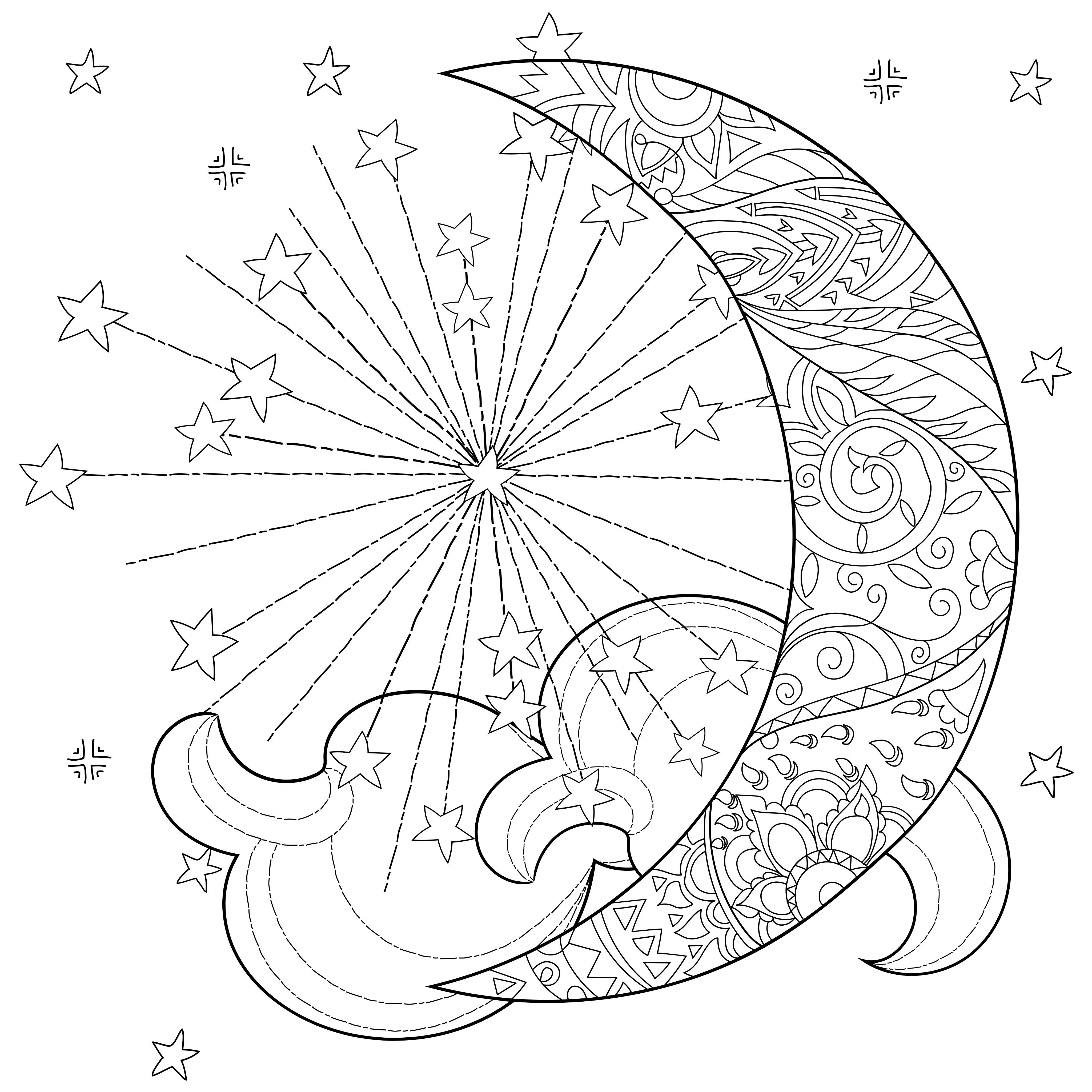 coloring pages sun and moon moon and stars coloring pages at getdrawings free download and moon sun coloring pages
