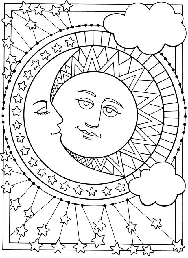coloring pages sun and moon sun and moon coloring pages coloring pages for kids pages coloring sun and moon