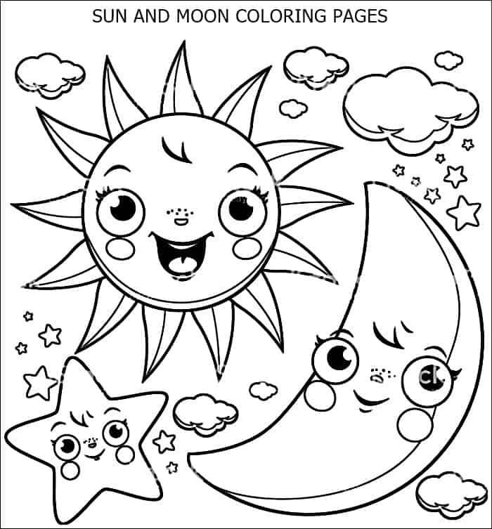 coloring pages sun and moon sun and moon coloring pages for adults at getdrawings pages coloring sun and moon