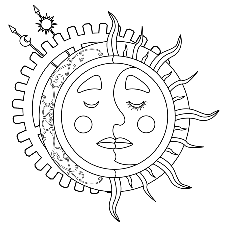 coloring pages sun and moon sun and moon coloring pages to download and print for free and sun moon coloring pages
