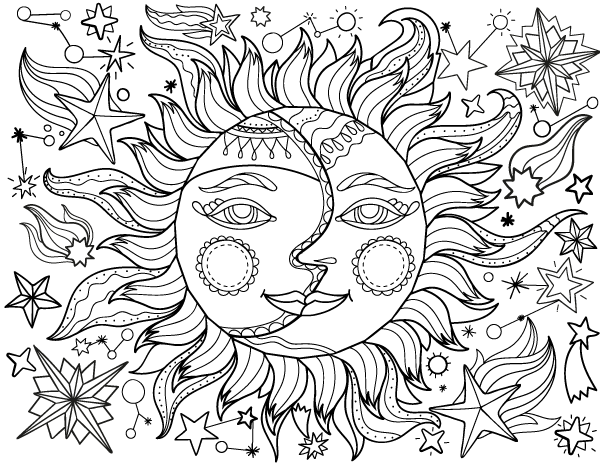 coloring pages sun and moon sun and moon zentangle google search moon coloring moon sun coloring pages and