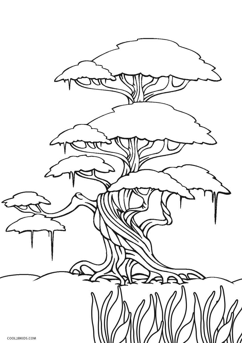 coloring pages trees free printable tree coloring pages for kids cool2bkids trees coloring pages