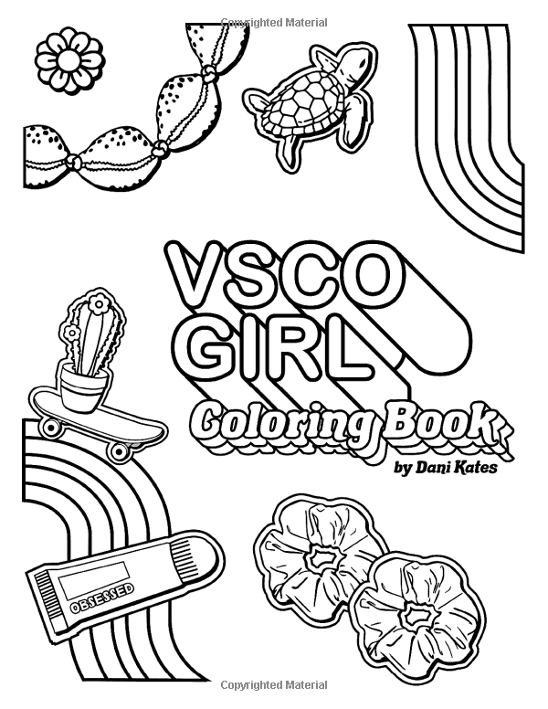 coloring pages vsco hand drawn vsco girl coloring page etsy in 2020 coloring vsco pages