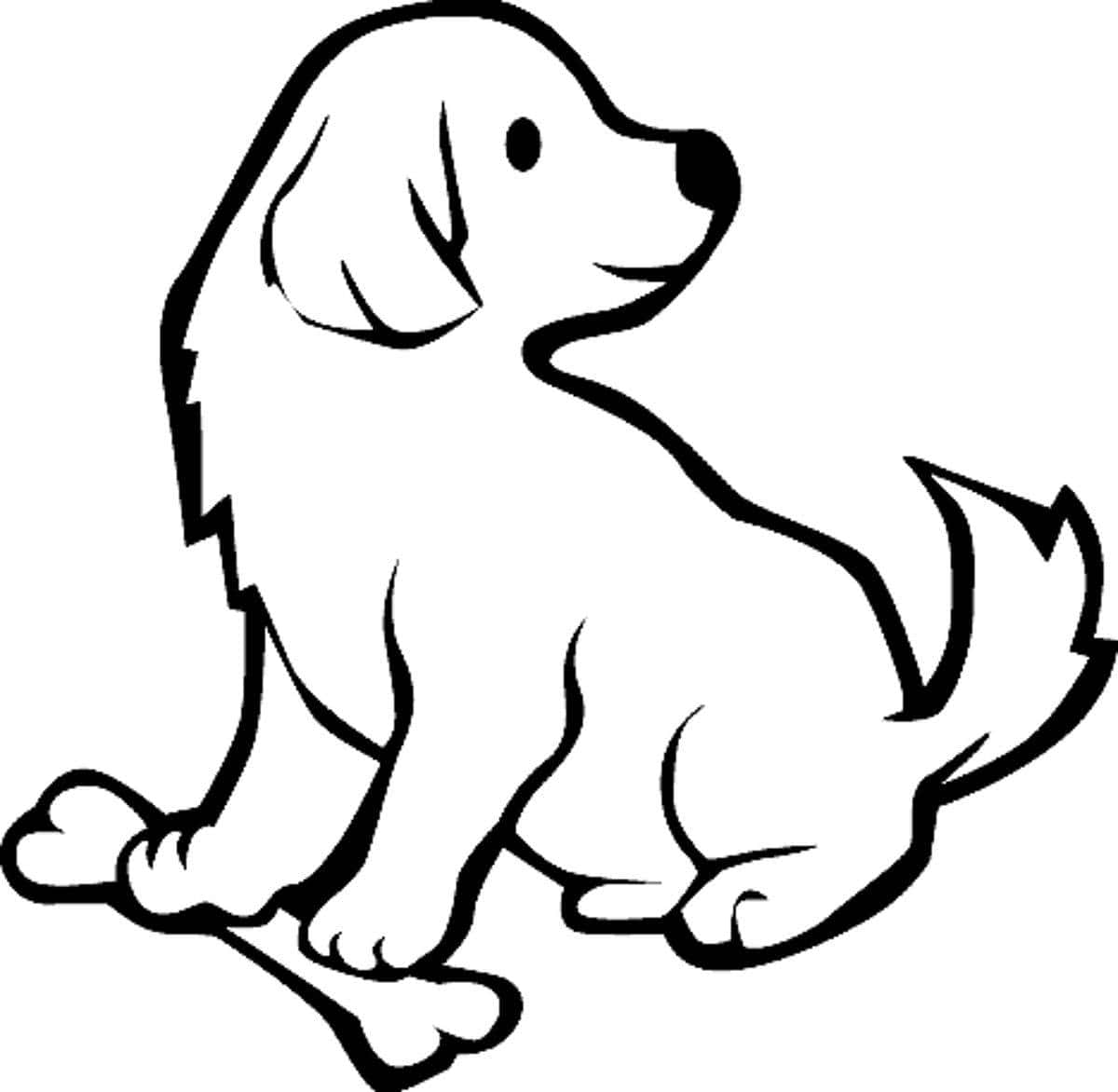 coloring pic of dog pomeranian puppy coloring pages at getcoloringscom free of pic coloring dog