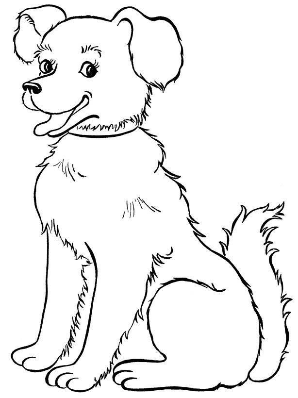 coloring pic of dog printable puppy coloring pages for kids cool2bkids pic coloring of dog