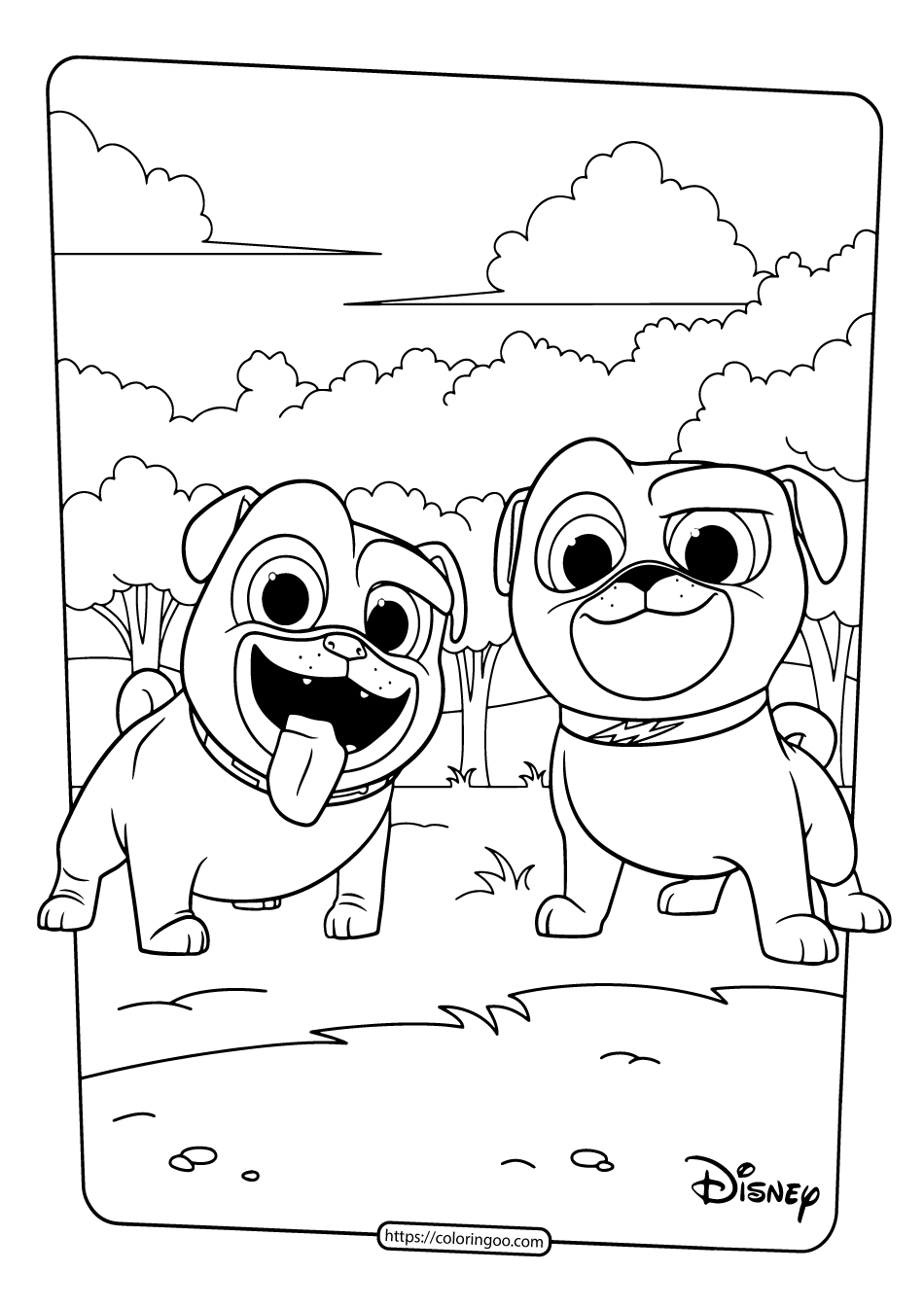 coloring pic of dog printable puppy dog pals coloring book pages 01 coloring of dog pic