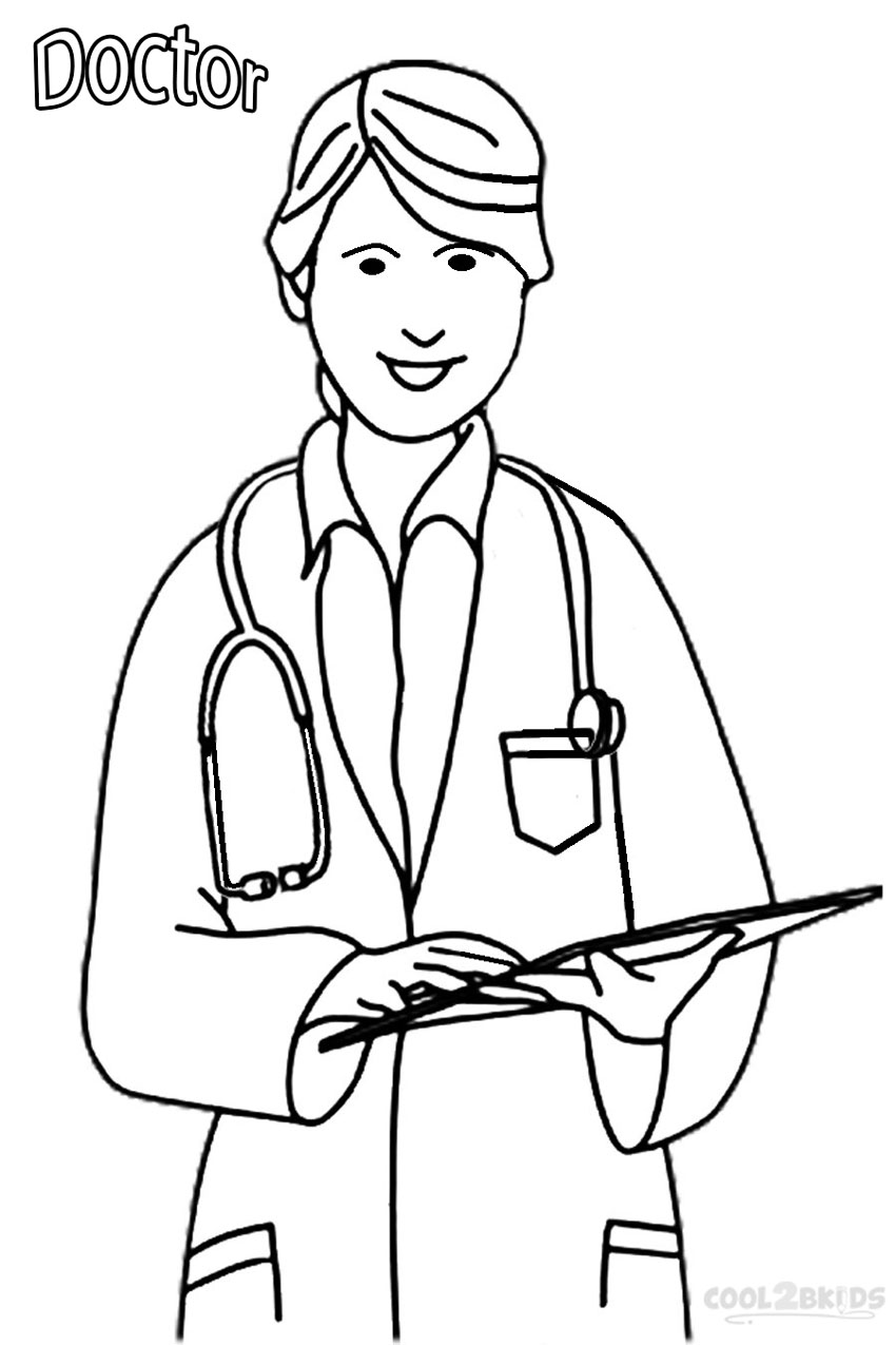 coloring picture doctor woman doctor coloring pages coloring home doctor coloring picture