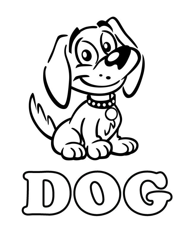 coloring picture dog cute dog coloring pages to download and print for free dog coloring picture