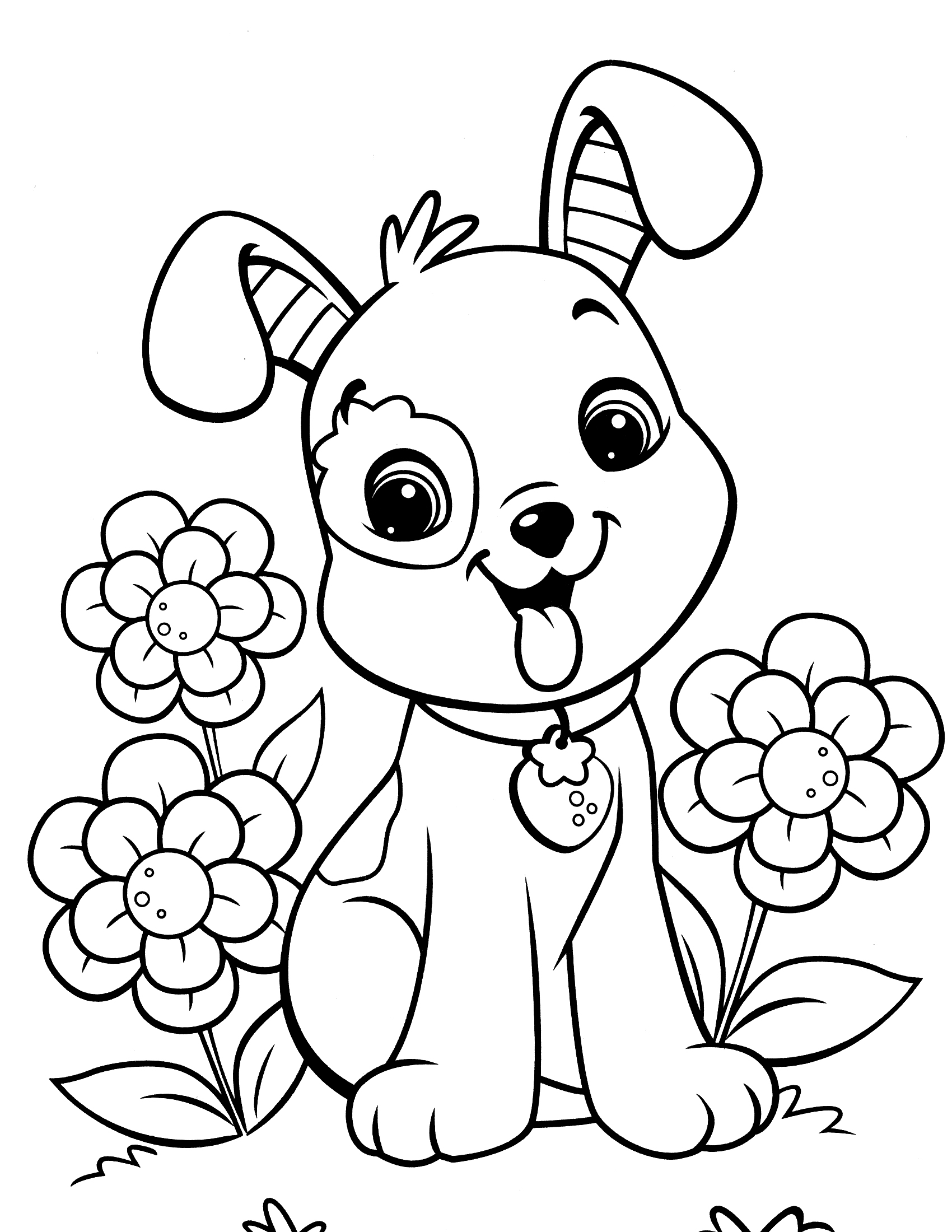 coloring picture dog free printable puppies coloring pages for kids picture dog coloring