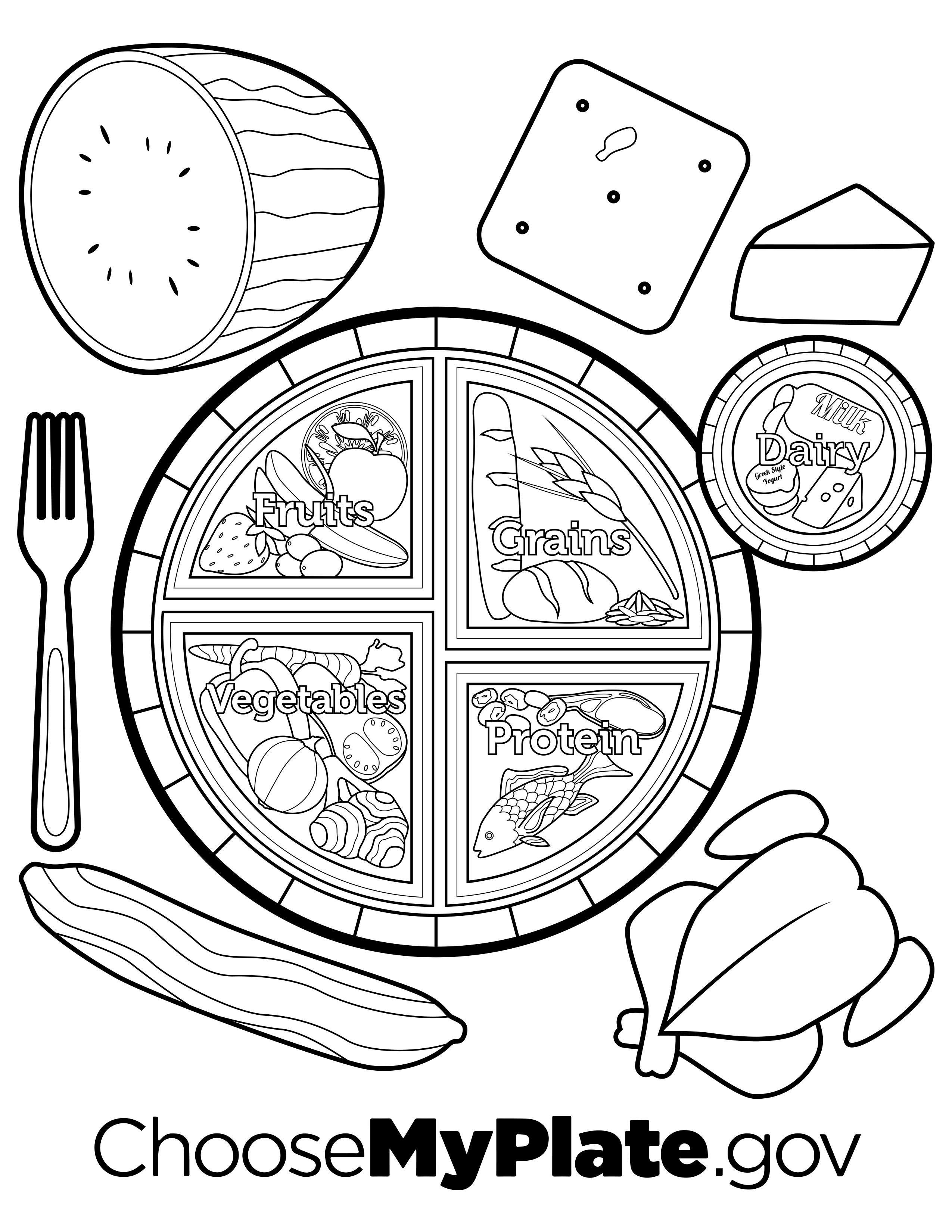 coloring picture food 15 best images of junk food sorting worksheets healthy coloring food picture