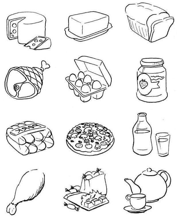 coloring picture food breakfast coloring pages download and print for free coloring picture food