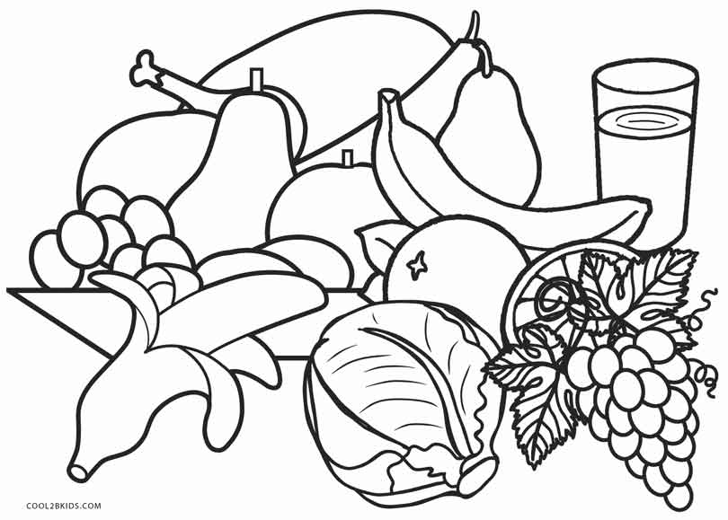 coloring picture food easy and simple food coloring pages for kids bubakidscom coloring food picture