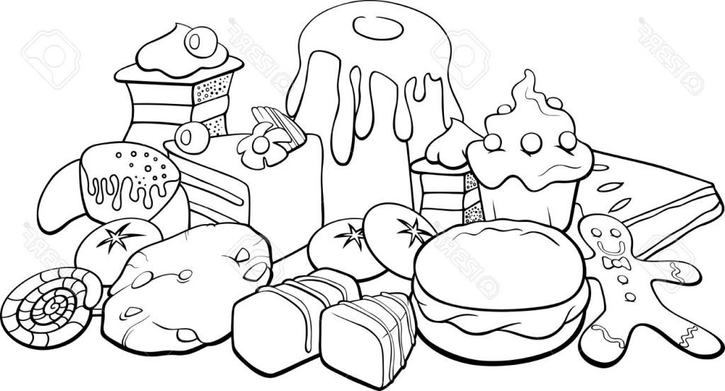 coloring picture food picnic food coloring pages at getdrawings free download picture food coloring