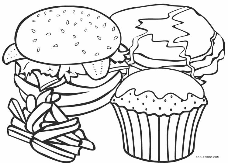 coloring picture food snacks coloring pages getcoloringpagescom food coloring picture